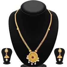 gold stone necklace sets images Gold finish necklace set by sukkhi necklace sets shopcj jpg