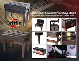 piano bench with storage canada bench decoration