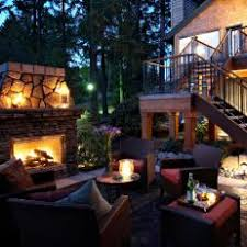 Stacked Stone Outdoor Fireplace - photos hgtv