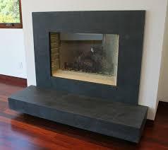 black slate surround on fireplace