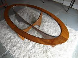 Oval Glass Table Glass And Wood Coffee Table