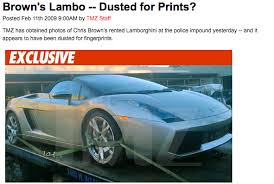 bugatti chris brown chris brown s lambo impounded and dusted for prints bad day