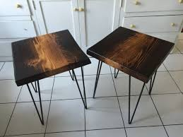 reclaimed wood end table ombré torched reclaimed wood end tables furniture in oakland ca