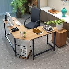 desk l ebern designs tetrick l shaped computer desk reviews wayfair