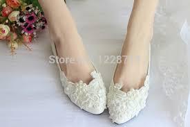 wedding shoes size 12 white pearls lace flower flats wedding shoes rhinestone