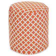 outdoor pouf burnt orange bamboo