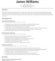 Resume Through Email Sample by Customer Service Rep Resume Sample