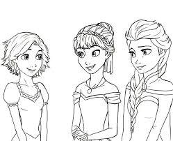 Rapunzel Is Princess Anna And Queen Elsa Cousin Coloring Pages Princess Elsa Coloring Page Free Coloring Sheets