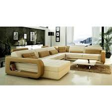 furniture awesome modern leather curved sectional sofa with
