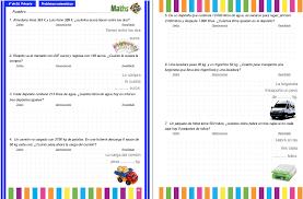 problemas razonados para cuarto grado colección de problemas para 4º de primaria en pdf e interactivos