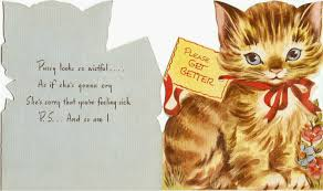 greeting card for sick person cat cards greeting cards for the and fabulous