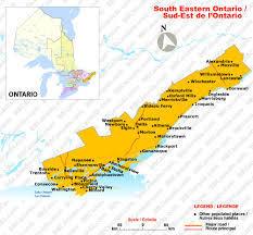 map of southeast canada south eastern ontario ontario bed and breakfasts b bs canada