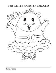 hamster princess coloring pages glum