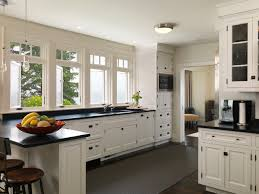 White Kitchen Cabinets With Black Granite York Harbor Maine Traditional Kitchen Boston By Duffy