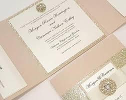 tri fold wedding invitations trifold invitations etsy