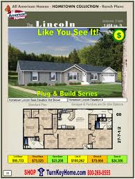 lincoln all american home ranch hometown collection plan price
