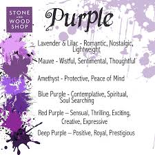 different types of purple the power of colour issue two the purple family stone and wood