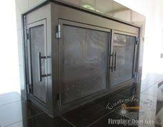 Contemporary Fireplace Doors by L Shaped Iron Fireplace Doors By Ams Fireplace Www Amsfireplace