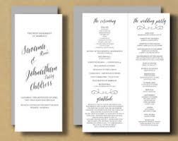 booklet wedding programs wedding program booklet etsy