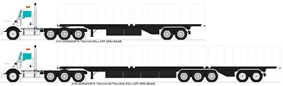 kenworth t800 semi truck kenworth t800 roll off semi bases by misterpsychopath3001 on