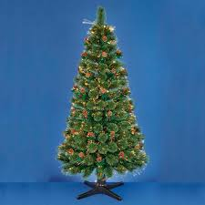 m revolving fibre optic christmas tree with berries warm white leds