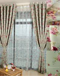 Blackout Thermal Curtains Green Floral Printing Thermal Bedroom Or Living Room Girls