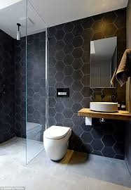 Wall Tiles Bathroom Best 25 Hexagon Tile Bathroom Ideas On Pinterest Hexagon Tile