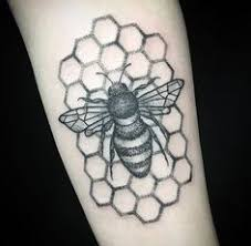 bee tattoo on pinterest honeycomb tattoo search and bumble bees