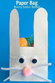 paper bag bunny easter basket craft for kids crafts crafts for