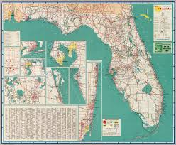 florida highway map official road map florida the state david rumsey