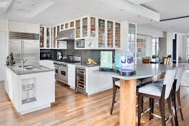 white kitchens with wood floors unique hardscape design white