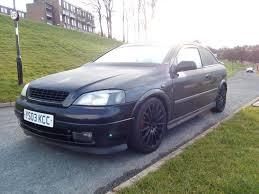 black vauxhall astra mk4 remapped sxi modified 12 month mot