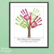 handmade grandparent gifts grandparents gift diy personalized child s handprint