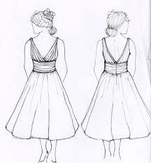 to draw fashion dresses