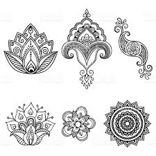 henna tattoo flower template mehndi set tattoo flowers hennas