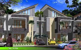 modern townhouse designs house plans 53467