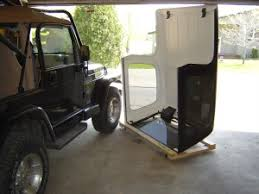 how to store jeep wrangler top free jeep wrangler top dolly plans cj tj jk now