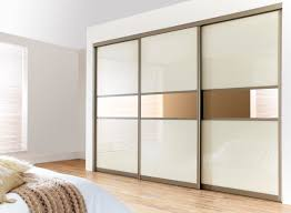 Contemporary Closet Doors For Bedrooms Enchanting Three Sliding White Gloss Acrylic Wardrobe Closet Door