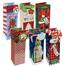 wine bottle gift bags bulk christmas themed wine bottle gift bags at dollartree