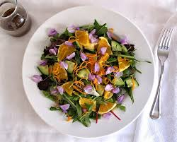 edible photo salad with edible flowers dandelion greens the simple