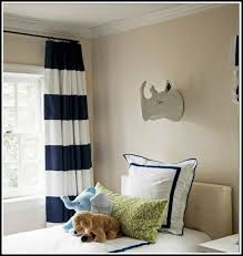 fabulous white and navy striped curtains decorating with
