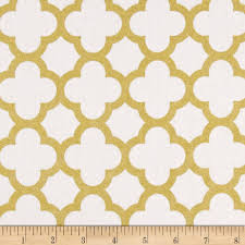 riley blake gold sparkle quatrefoil gold from fabricdotcom