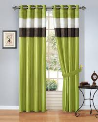 curtains green striped curtains inspiration brown and green