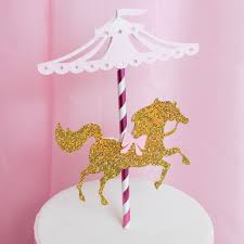 carousel cake topper pink gold carousel cake topper pretty chic party