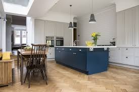 hand painted kitchen islands hand painted kitchen island in hague blue and yellow breakfast