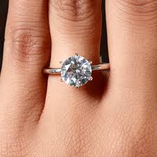 2 carat engagement ring price 2 25 carats cut cubic zirconia engagement ring
