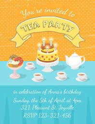 tea party invitation template stock vector image 51578938