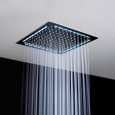 Ultra Modern Ceiling Light by Bathroom Square Ultra Modern Stailess Ceiling Shower Head