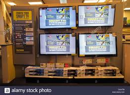 best new electronics smart tv display in a best buy electronics store in new york on