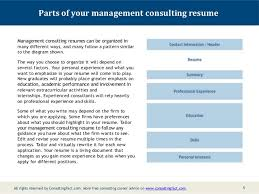 Sample Resume Management by Management Consulting Resume Sample